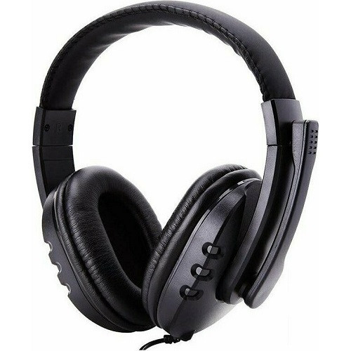 GM002 3.5mm Wired Gaming Headphones With Mic - Black