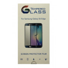 Tempered Glass Screen Protector Black for Samsung Galaxy S6 Edge / Προστατευτικό Γυαλί Οθόνης 9H 2.5D 0.3mm Premium HD