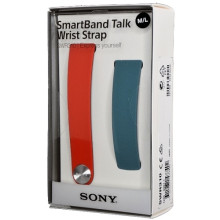 Sony SmartBand Talk Wrist Strap SWR310 S / M Red / Blue Ανταλλακτικό Λουράκι