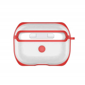 Apple Airpods Pro Hard Clear Case OEM Red