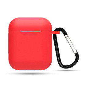 Silicone Case for Apple Airpods Series 1 & 2 Red